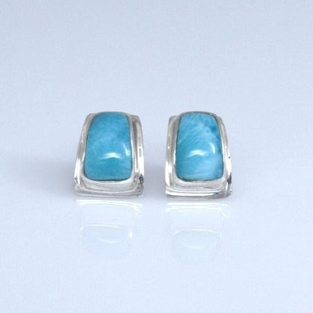 Larimar Studs Earrings, Barahona Style