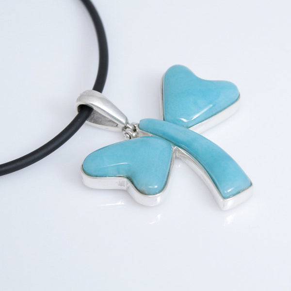 Larimar pendentif, dragonfly style