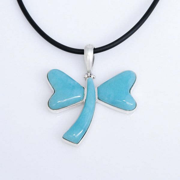 Larimar pendant, Dragonfly Style
