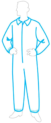 Polygard™ light weight coverall with collar