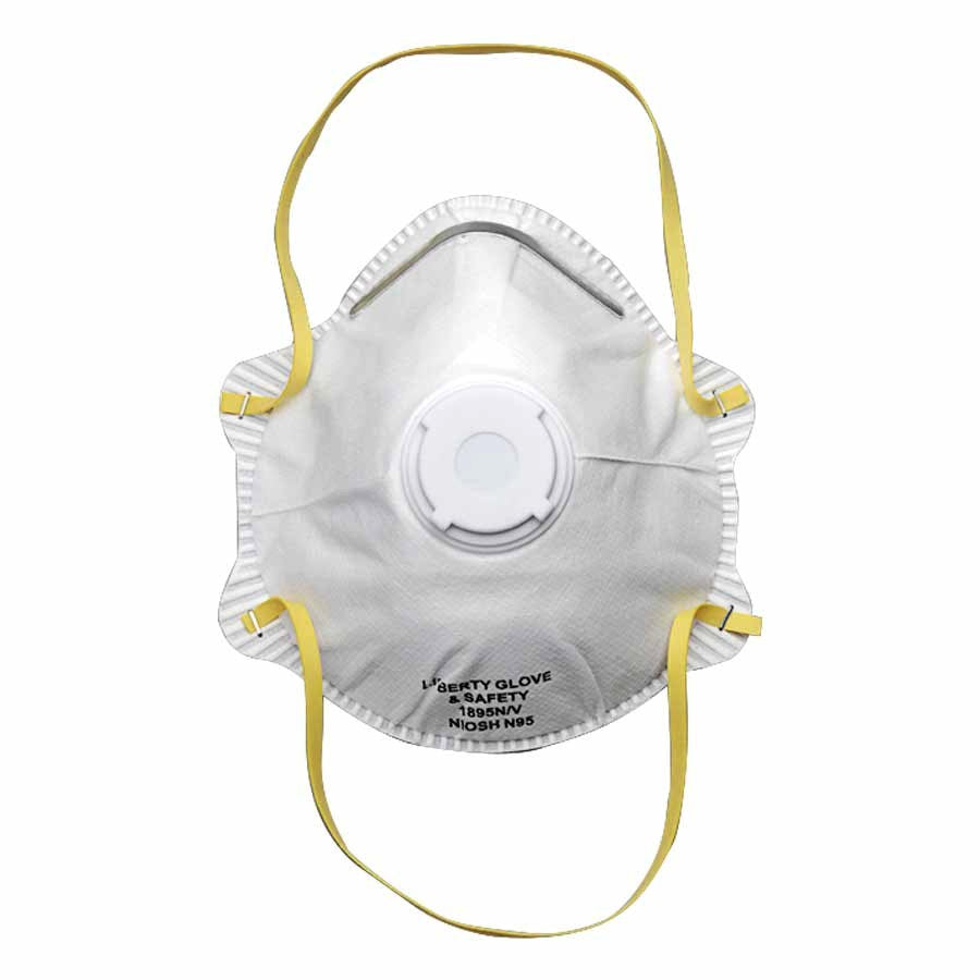 N95 respirator with valve