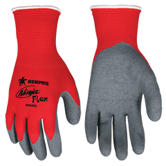 Ninja® Flex 15 Gauge Red Nylon Shell, Gray Latex Palm - N9680