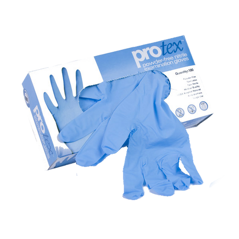 Protex 8 Mil Nitrile Blue Exam Gloves - P4-8000