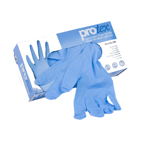 Protex 4 Mil Nitrile Blue Exam Gloves - P4-6300