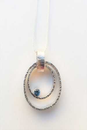 Orbit Necklace with London Blue Topaz