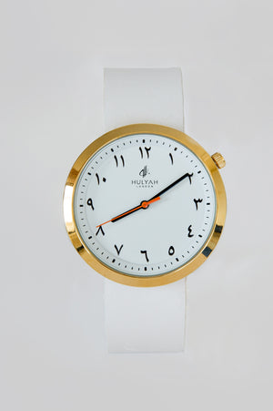 ALÏNA White Leather Watch