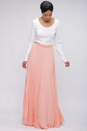 Bali Pleated Skirt Blush