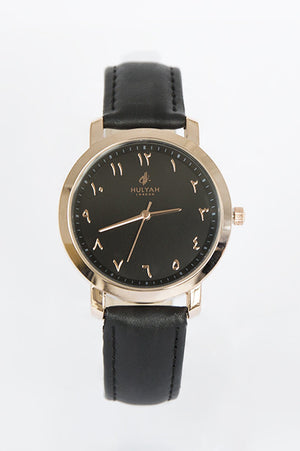 ALÏNA Black Leather Watch