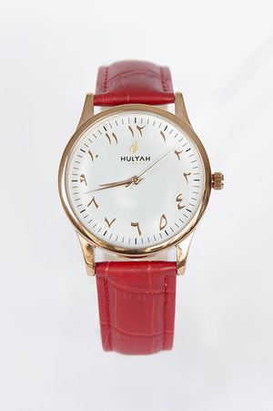 ALÏNA Red Leather Watch