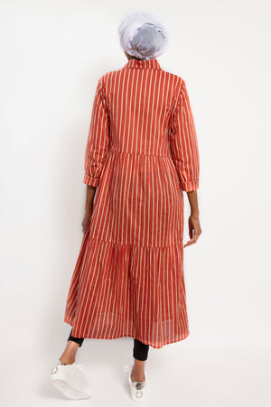 Asma Dress Rust