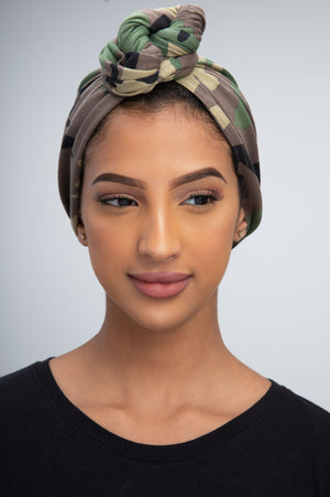 Camouflage JERSEY Turban