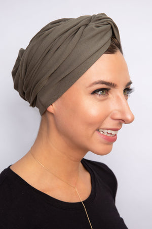 Olive JERSEY Turban