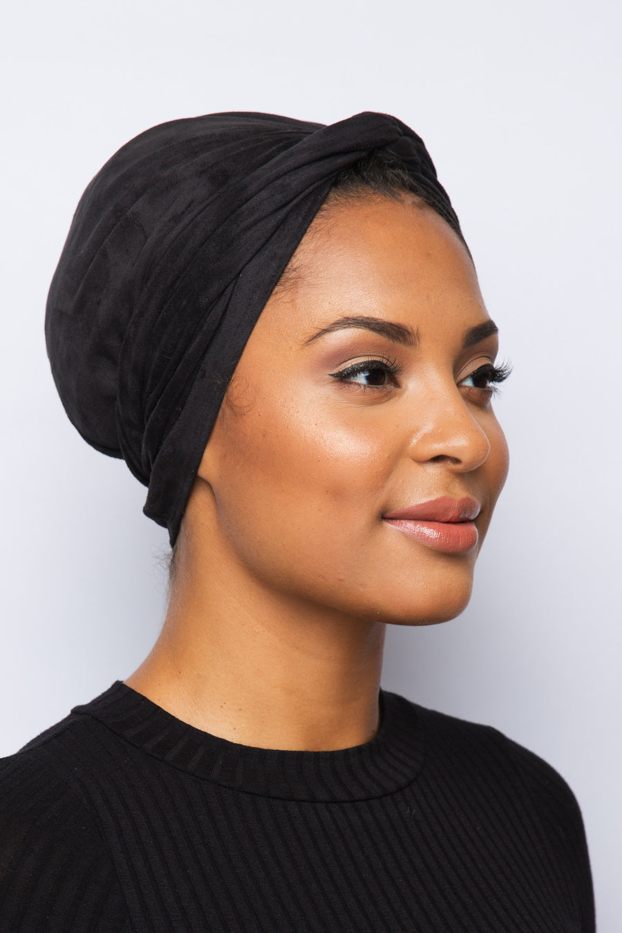 Black SUEDE Turban