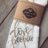 Love People Flour Sac Tea Towel