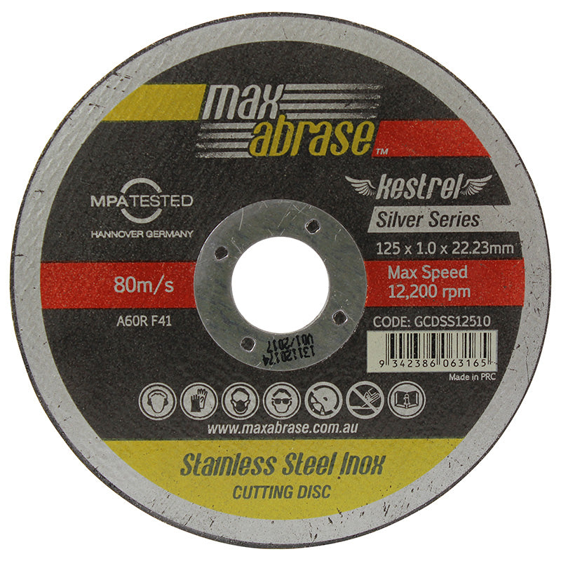 Max Abrase 115 x 1.0mm Cutting disc tins
