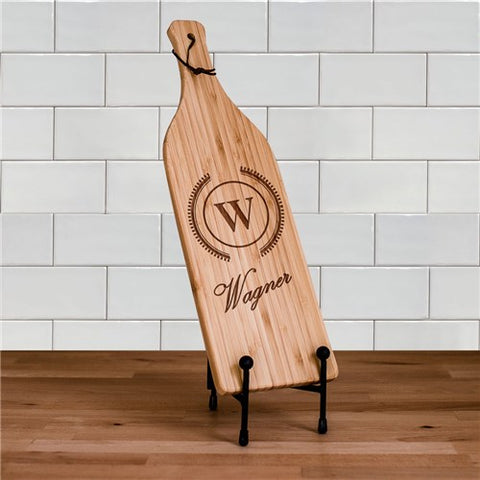 Engraved Initial & Name Wine Cheese Board