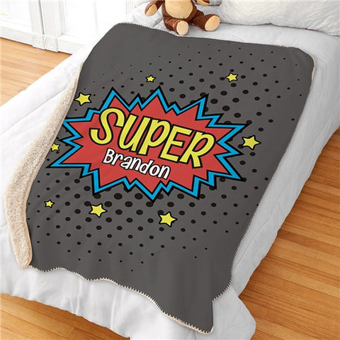 Personalized Superhero Blanket