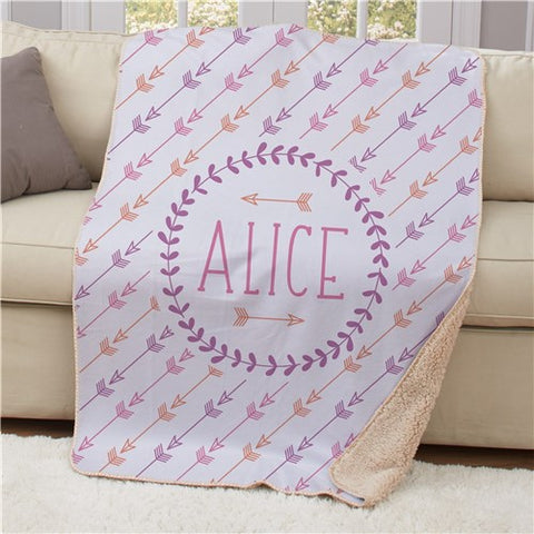 Personalized Arrows Blanket