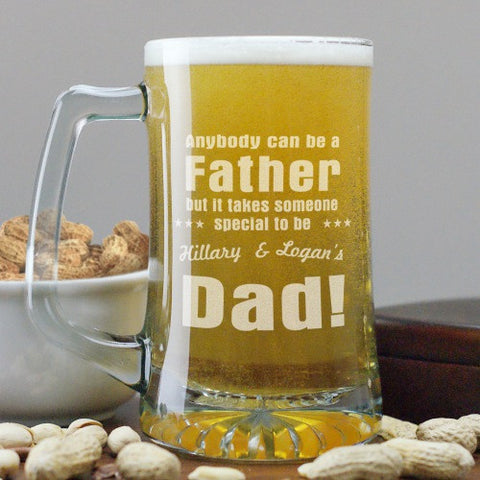 Anyone Can Be A Father Beer Mug