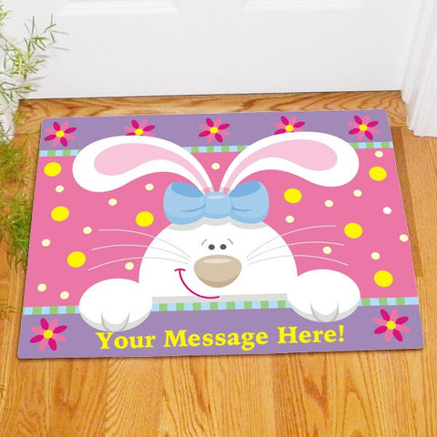 Easter Bunny Personalized Doormat