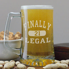 21st Birthday Engraved Beer Mug