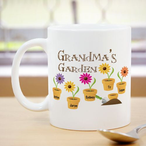 Flower Garden Personalized Coffee Mug