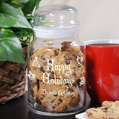 Holday Treats Glass Jar