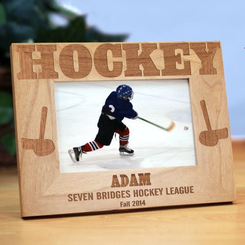 Hockey Wood Picture Frame