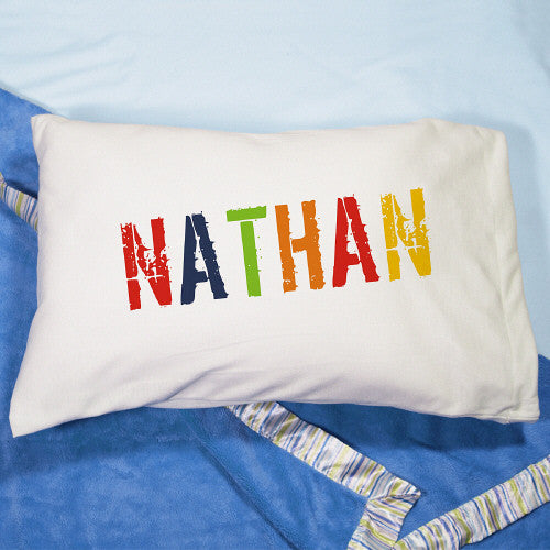 Colorful Name Pillowcase (boy or girl designs)