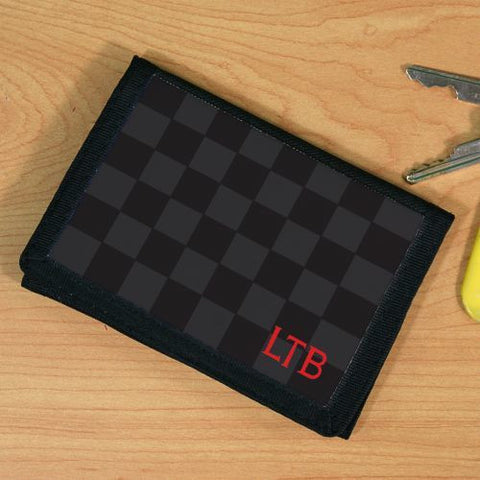 Dark Checkered Wallet