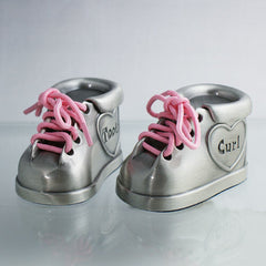 Personalized Tooth & Curl Booties- Boy or Girl