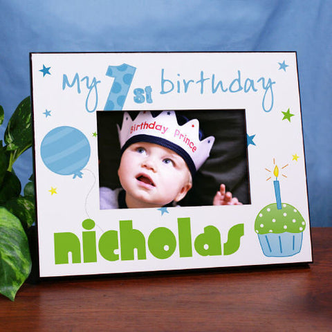 My 1st Birthday Printed Frame (boy or girl designs)
