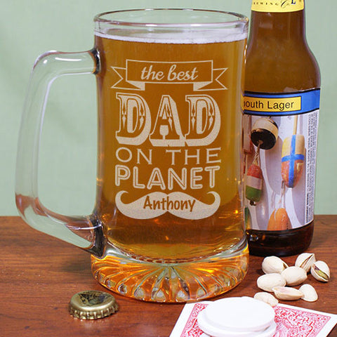 Best Dad Mustache Beer Mug