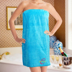 Embroidered Ladies Spa Wrap- 3 colors