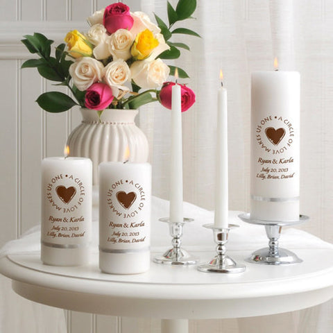 Second Marriage Unity Candle Set
