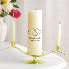 Ivory Candle w/ Gold Stand