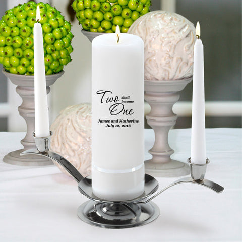 Custom Traditional Unity Candle Set - 10 Designs