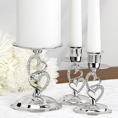Sparkling Heart Candle Holders