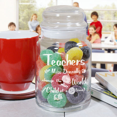 Engraved Teacher's Treat Jar