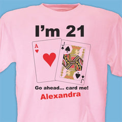 Card Me Personalized 21st Birthday T-Shirt