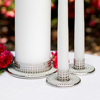 Vintage Pearl Candle Holder Set