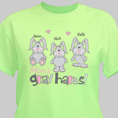 Gray Hares Personalized T-Shirt (more colors)