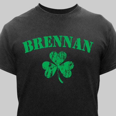 Personalized Irish Shamrock Child's T-Shirt- 3 colors