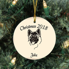 Custom Akita Christmas Ornament