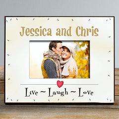 Live Laugh Love Personalized Frame