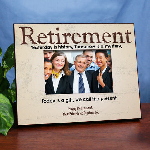 Retirement Personalized Picture Frame