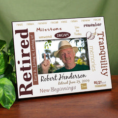 Retirement Rest and Relaxation Personalized Picture Frame