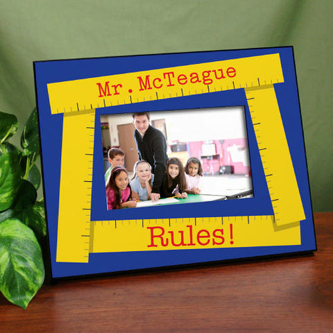 Teacher Rules Printed Frame