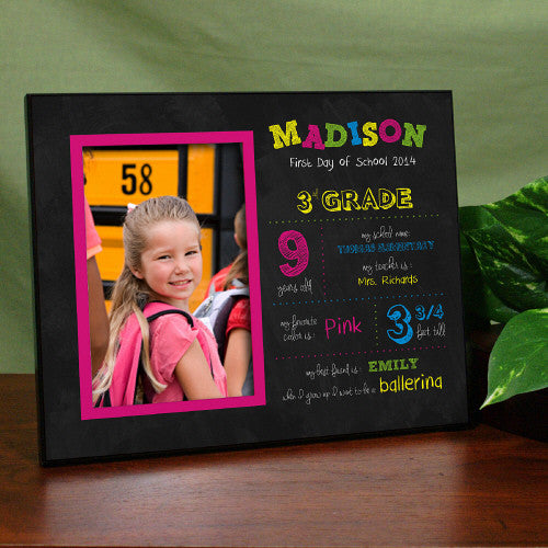 First Day Of School Frame Boy Or Girl Design Bellas Personal Gifts