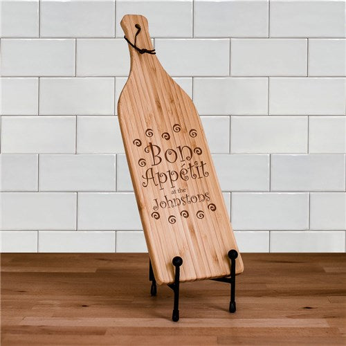 Personalized Bottle Shaped Cutting Board